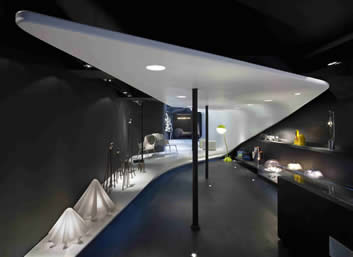 1. Galerie BSL, Paris. Design, Noé Duchaufour Lawrance. Courtesy: Corian, Dupont de Nemours.