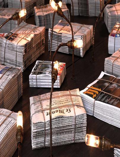 Oeuvre de Marc Ash. Partenaires de l'événement Le Monde, Bamboo Touch. Photo DR.